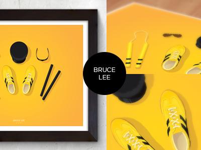 Bruce Lee Props Poster