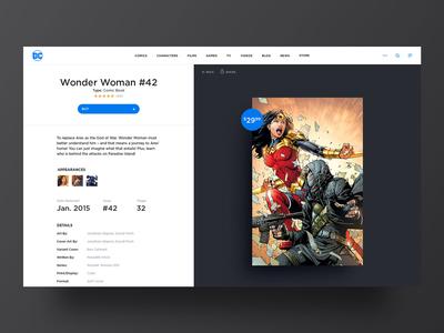 DC Comics Web Design Details