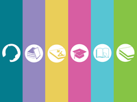 Flat Icons for an Education Website