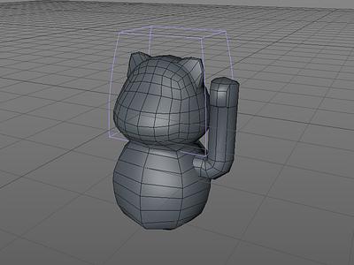Neko 3D 3d modeling game lowpoly miau neko