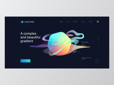 Gradient - Web Design-Dark Ui