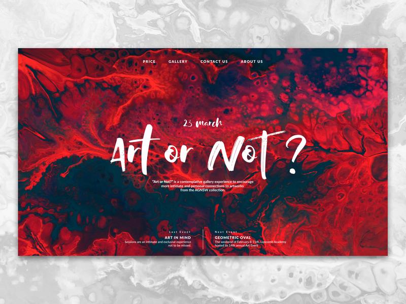 Shot #3 gallery studio art website web ui ux typography minimal design