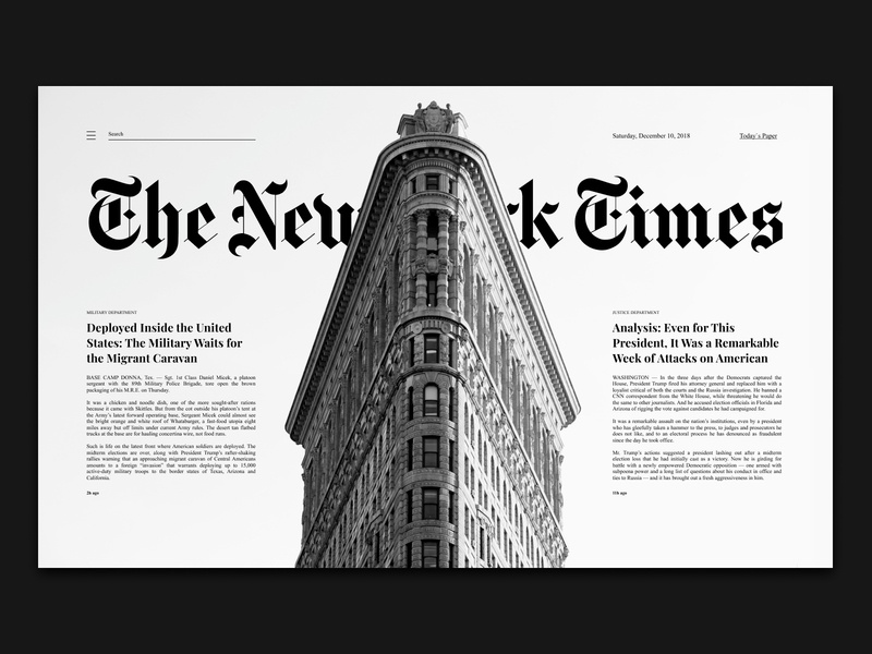 Shot #4 newspaper the new york times website web ux ui typography minimal design