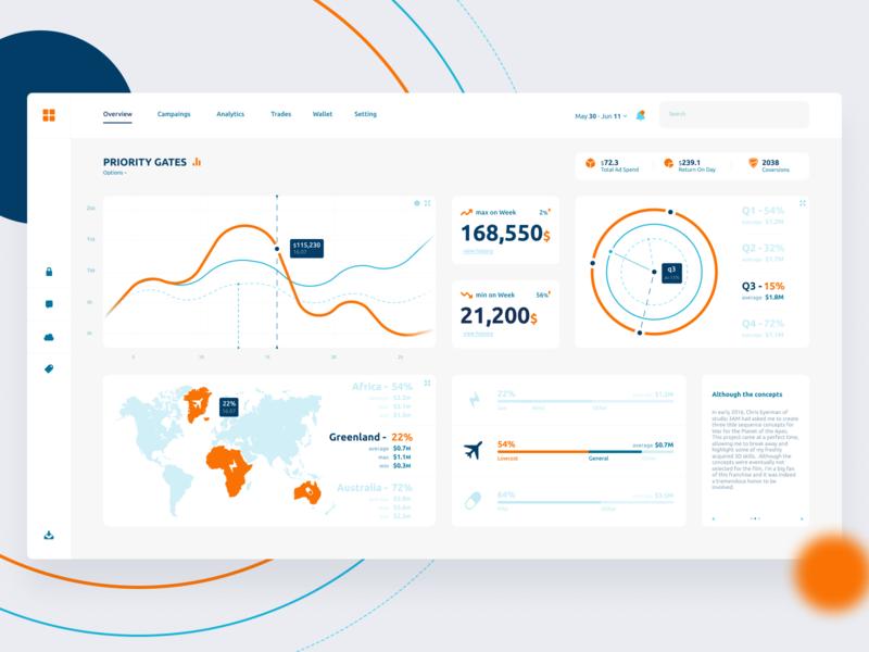 Shot #9 infographic vector illustration dashboad chart app cloud website web ui ux minimal design
