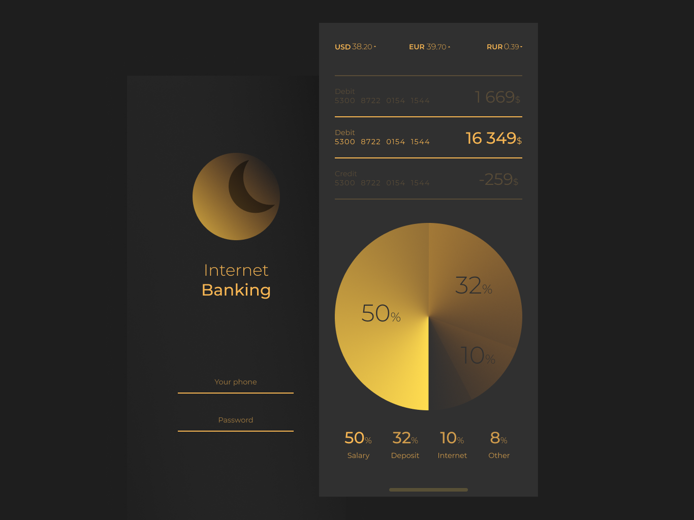 Shot #9 luxury premium chart statistic branding bank icon vector infographic dashboad app cloud typography ui ux minimal design