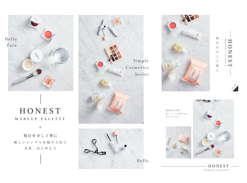 Simple Cosmetic Graphic design cute dtp simple design graphic sketch