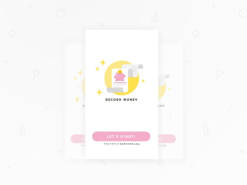 Account Book - Splash UI ios sketh dailyui
