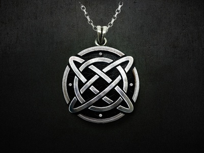 Xelta pagan fantasy jewellery logo jewel jewerly letter x celtic knot celt celtic celta necklace