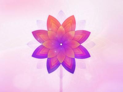 Just bloom! vector logotype logo gradient flower designer colorful