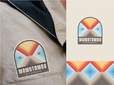 Momotombo badge patch design patch lava magma badges icon branding volcanic vector logo embroidery outdoor badge scout camping outdoor nicaragua badge volcan volcano