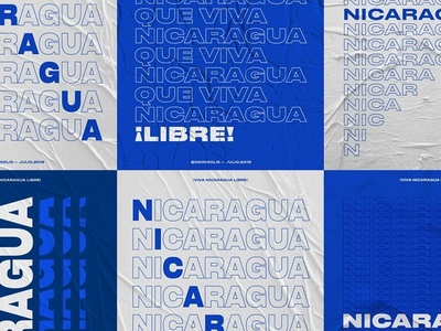 Colors of dissidence - Poster Serie poster designer poster a day libre nicaragua white blue resistance freedom liberty typography poster poster design poster managua typography