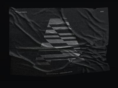 Type Trip concept type typographic typography black and white flag logotype logo geometry illusion font