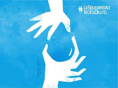 #LaSolidaridadNoEsDelito human rights riot texture poster humanity solidarity hands drop water nicaragua