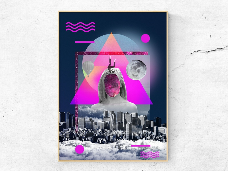 Universe gives a way 3/3 (Poster) visual artist abstract art abstract collageart image manipulation collage digital manipulation digital imaging digital art graphic  design bauhaus baugasm poster design poster concept art direction print design print visual art design