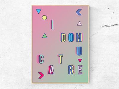 I donut care 1/3 (Poster)