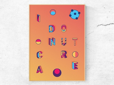 I donut care 2/3 (Poster)