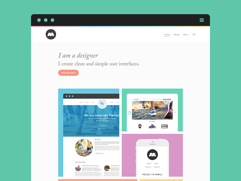 My Portfolio portfolio web web design clean flat white space minimal