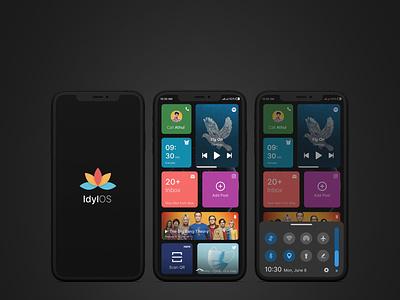 Idyl OS application design apple application os ui ux design clean vector branding illustration