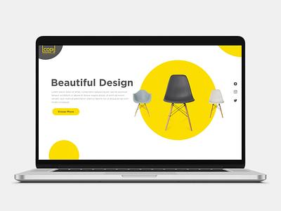 Codi Furniture Website Design logo illustration vector ux ui