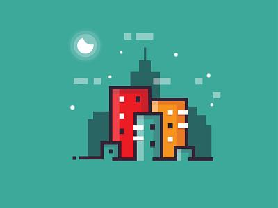 Flat Pixel Design identity minimal illustrator clean branding app type flat character logo icon design art vector illustration