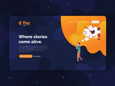 FOY Web UI Design clean web flat vector ux ui branding illustration