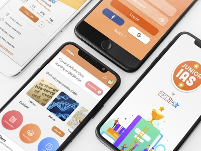 Race2IAS App UI Design identity ios website web art minimal icon character app ux design clean vector ui branding illustration