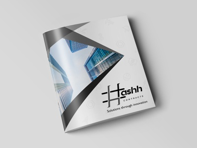 Hashh Brochure animation typography logo design branding illustration
