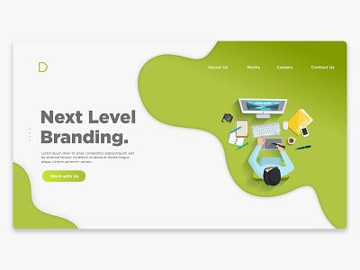 Creative Agency Web Design icons branding brand website lettering typography animation minimal illustrator character art flat app web ux design clean ui vector illustration