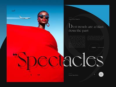 Fashion Spectacles modeling photography modeling model banner article fashion article magazine beautiful concept web webdesign uiux ux ui design