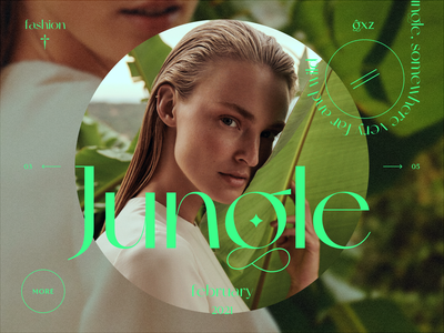 Jungle fashion magazine magazine fashion design fashion banner beautiful website concept web webdesign uiux ux ui design