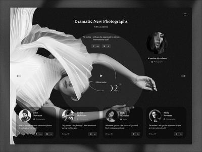 Photographs models model photographers poster photograps fashion website concept web webdesign uiux ux ui design