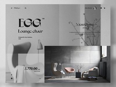 Lounge chair banner lounge chair chair furniture concept web webdesign ux uiux ui design