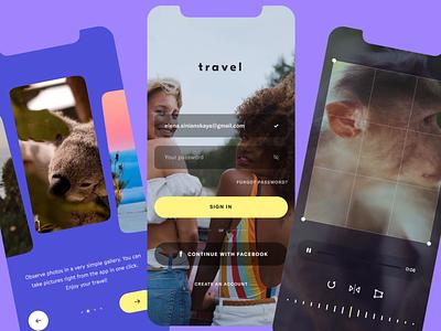 Travel App animation motion graphics interface creative animal app design monkey trip journey travel video mp4 mobile ux uiux ui design