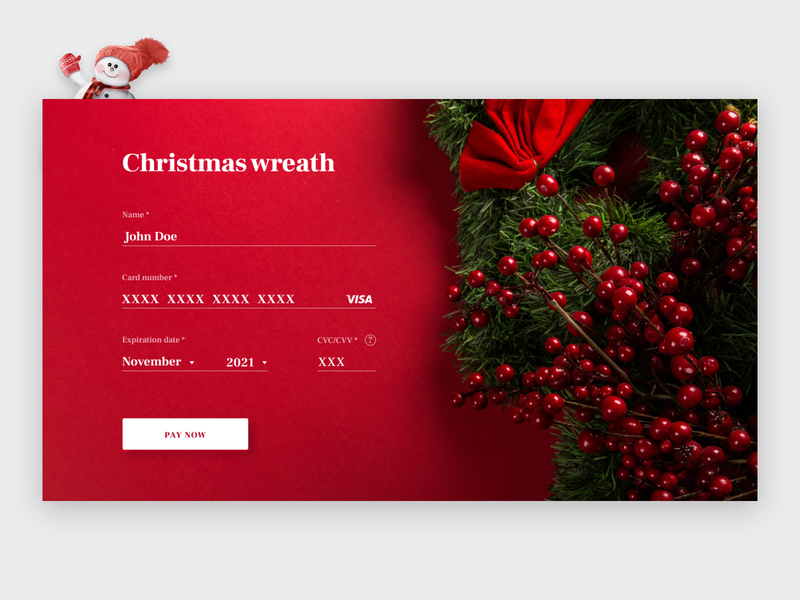 Christmas Wreth Grey bright colors design bright color card card checkout form design form field new year uiux wreath form sign in sign up christmas wreath christmas