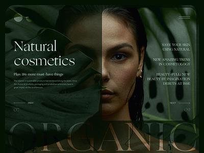 Organic fashion banner beautiful webdesign web concept uiux ui ux design