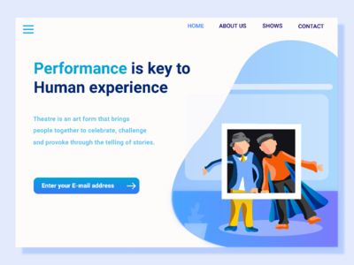 THEATRE SHOWS LANDING PAGE