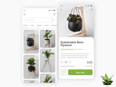 This is an app for plants concept landing page unsplash figma flowers ui ux mobile app design clean ui mobile ui plants mobile app mobile design clean