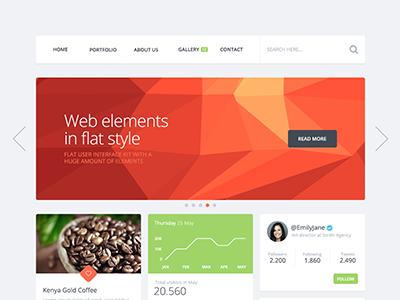 Flattastic Pro kit ui kit elements web interface psd gui ui flat