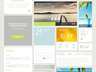 Mojito UI Kit kit ui kit elements web interface psd gui ui flat