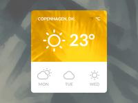 Mojito UI Kit Weather