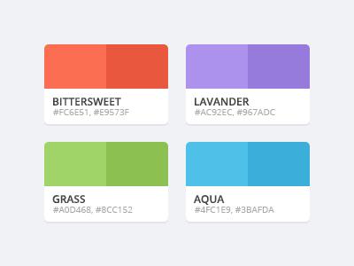Flattastic Pro Color Palette flat ui psd ui kit color colors color palette palette