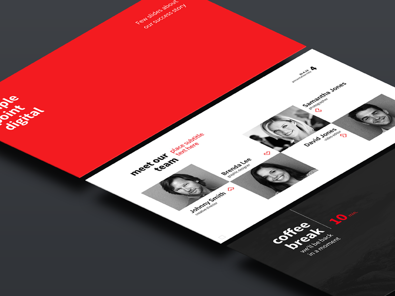 Simple point presentation template