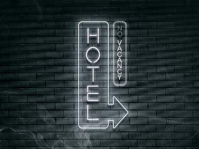 Neon Light Effect: Noir Style neon light effect psd bricks brick noir night rain smoke gritty