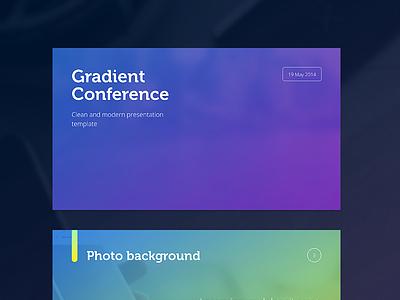 Gradient Presentation Template modern gradient presentation template powerpoint elegant ppt pptx clean minimalist minimal resource