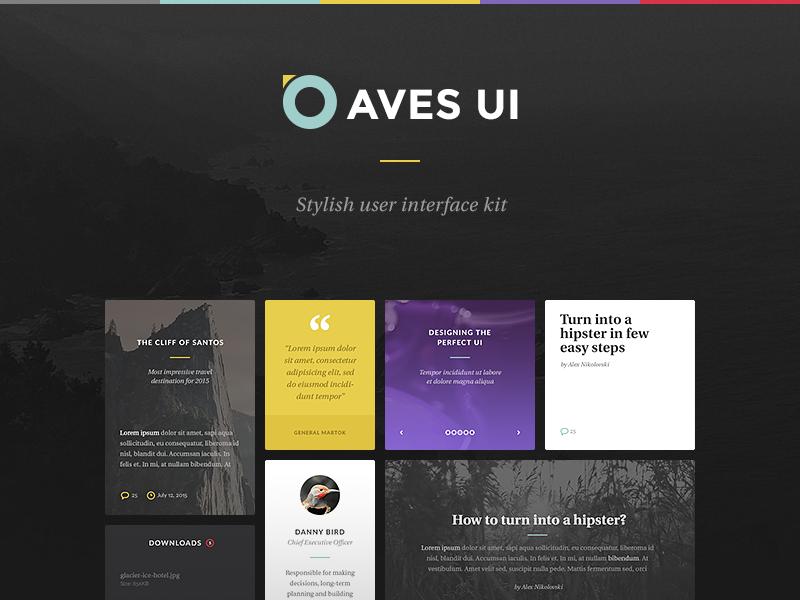 Aves UI Kit ui gui psd interface web elements ui kit kit stylish bird birds