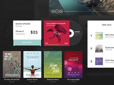 Aves UI Kit Media birds bird stylish kit ui kit elements web interface psd gui ui