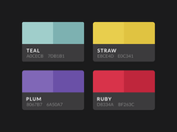 Aves UI Kit Color Palette