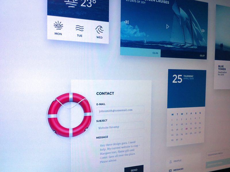 Nautical inspired UI kit nautical ui kit psd ui kit