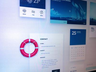 Nautical inspired UI kit