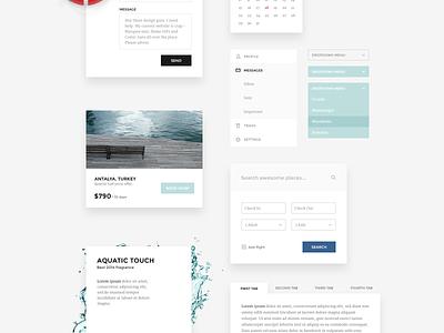 Harbor Ui Kit ui gui psd interface web elements ui kit kit minimalist sea ocean nautical